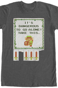 Tear Off Flyer Legend of Zelda T-Shirt
