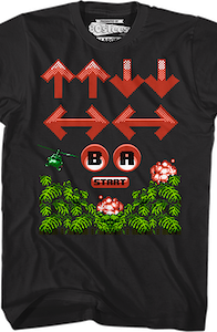 Contra Cheat Code 30 Lives T-Shirt