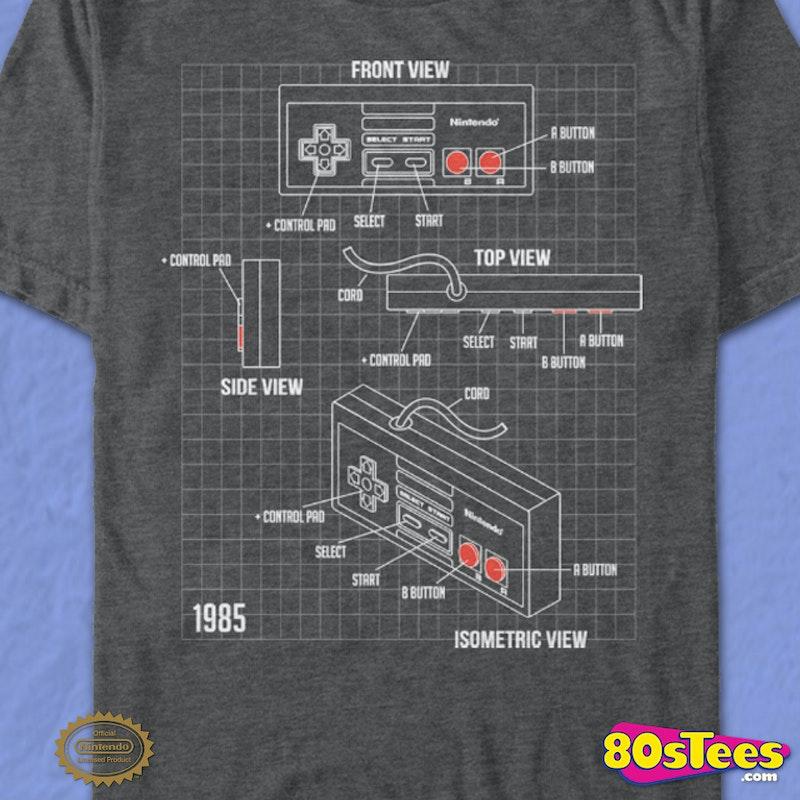 Nintendo Controller Schematic T-Shirt on