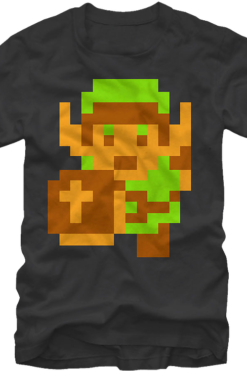 Link Pixels Legend of Zelda T-Shirt