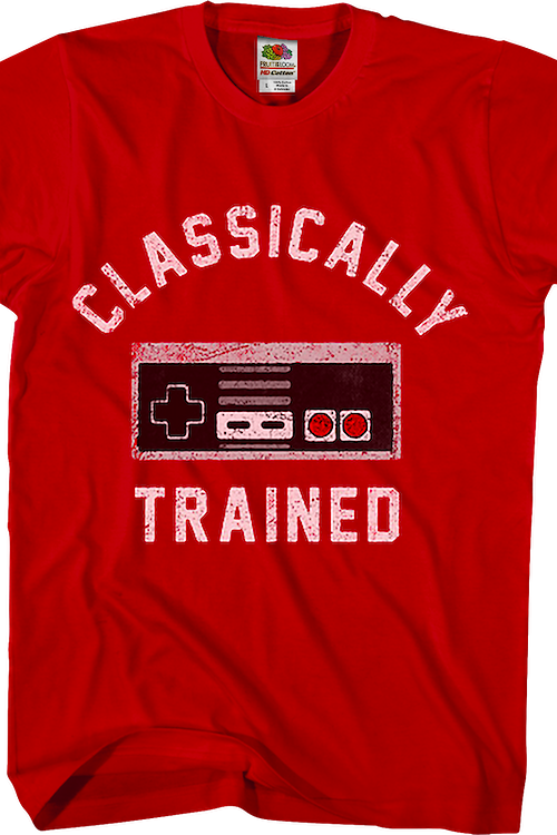 Red Classically Trained NES Controller Shirt