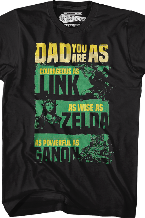 Father's Day Legend of Zelda Nintendo T-Shirt