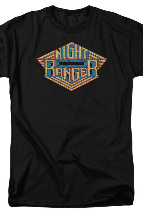 logo night ranger t shirt officially licensed band tee. Black Bedroom Furniture Sets. Home Design Ideas