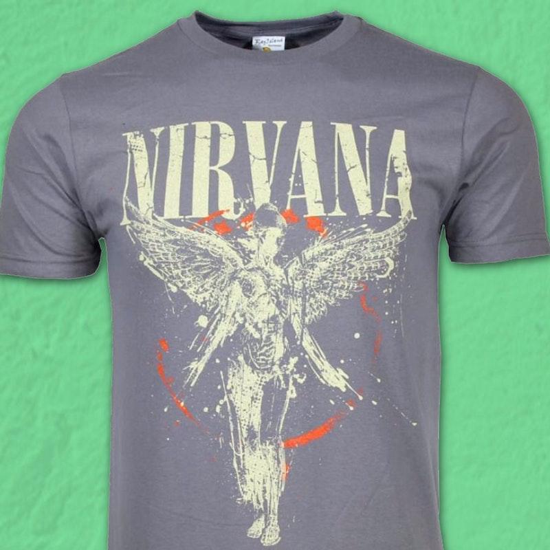 a2762349 In Utero Nirvana T-Shirt: Nirvana Mens T-Shirt