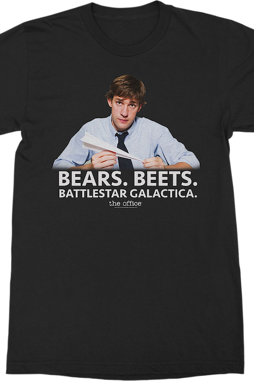 Jim Halpert Bears Beets Battlestar Galactica The Office T-Shirt