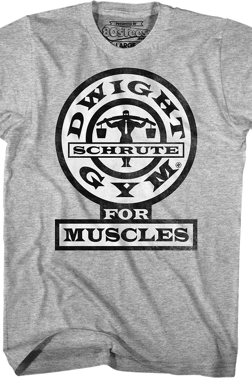 Dwight Schrute Gym For Muscles The Office T-Shirt