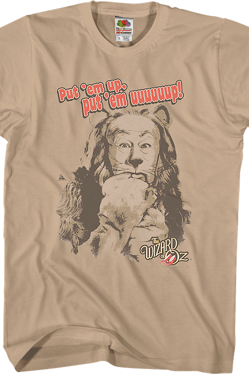 Put 'Em Up Cowardly Lion Wizard Of Oz T-Shirt