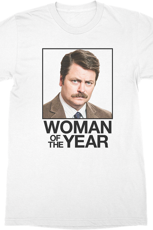 Ron Swanson Woman of the Year Parks and Recreation T-Shirt