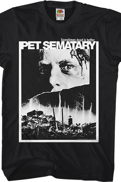 Black and White Poster Pet Sematary T-Shirt