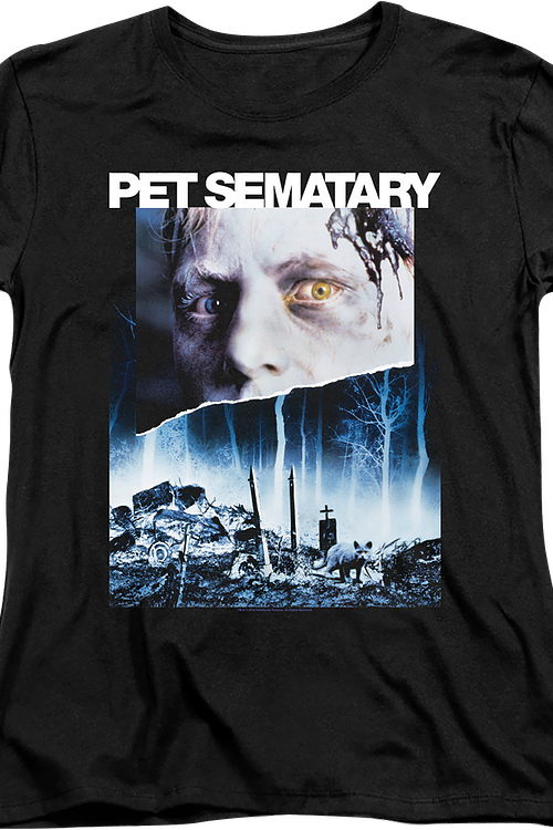 Womens Movie Poster Pet Sematary Shirt