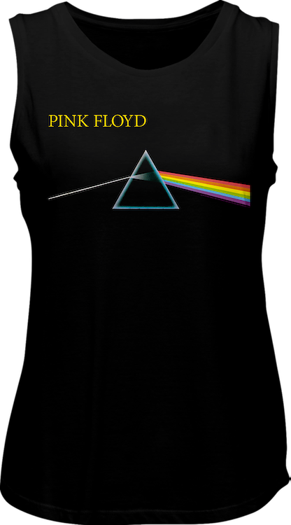 Ladies Dark Side of the Moon Pink Floyd Muscle Tank Top