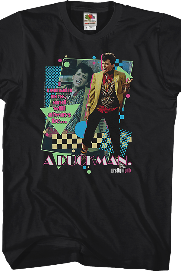 Duckman Pretty In Pink T-Shirt. Pretty in Pink Men's Black T=-