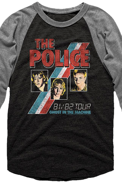 Ghost In The Machine Tour The Police Raglan Baseball Shirt