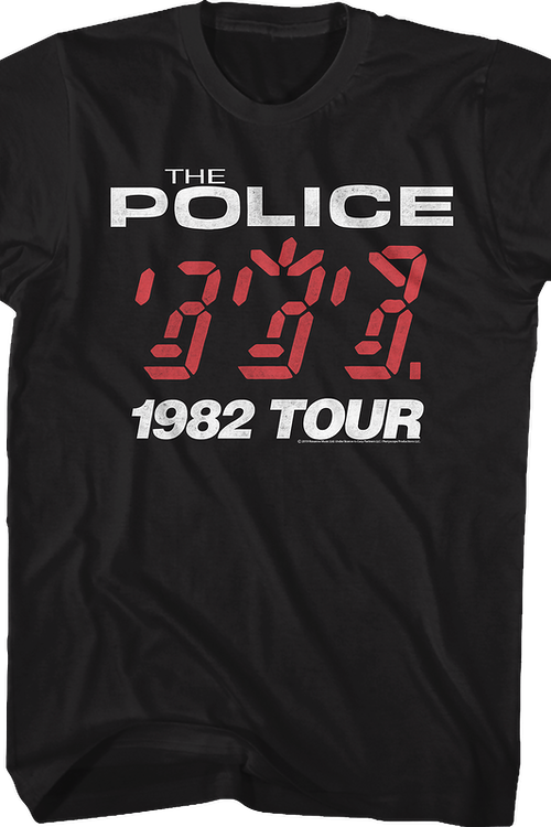 Ghost In The Machine 1982 Tour The Police T-Shirt