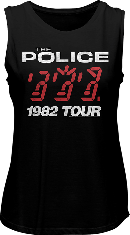 Ladies Ghost In The Machine 1982 Tour The Police Muscle Tank Top