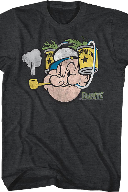 Popeye Spinach Hat T-Shirt