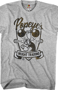 Weight Training Popeye T-Shirt