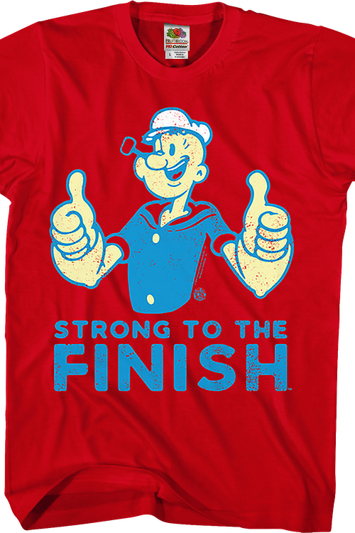 Red Strong To The Finish Popeye T-Shirt