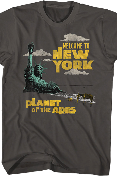 Welcome To New York Planet Of The Apes T-Shirt