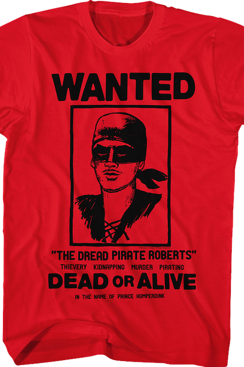 Wanted Poster Princess Bride T-Shirt