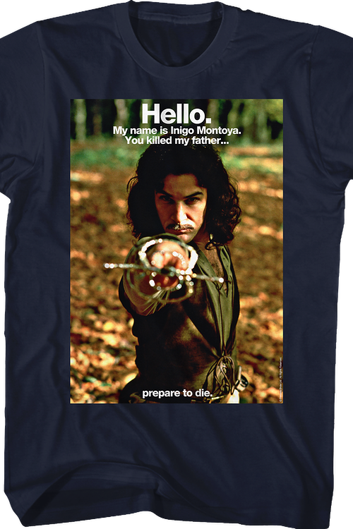 Hello My Name Is Inigo Montoya Princess Bride Shirt