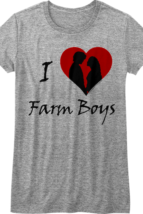 Junior I Love Farm Boys Princess Bride Shirt
