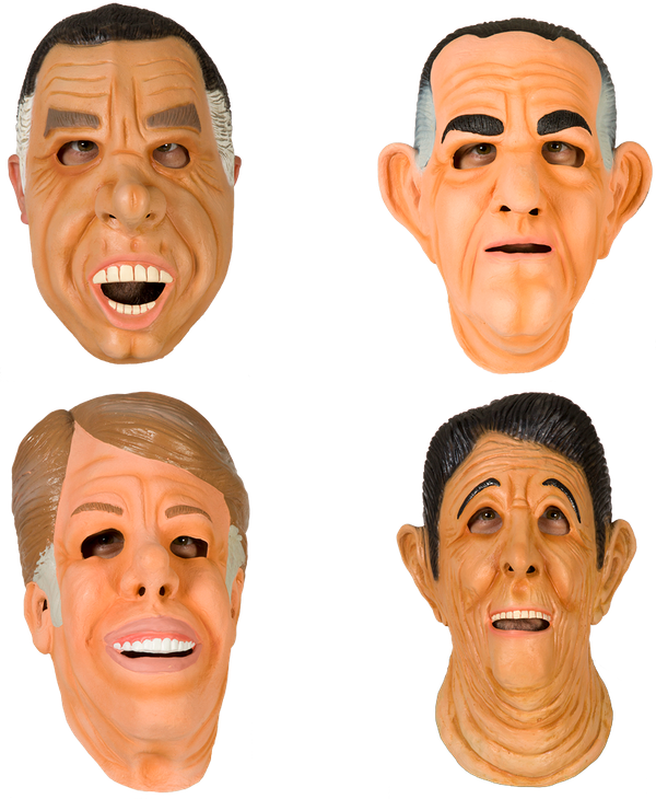 Ex-Presidents Mask Set: Br& Icons Political Costumes