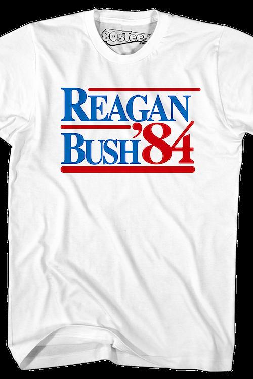 85ae729b3 Reagan Bush 84 T-Shirt: Political, Ronald Reagan Mens T-Shirt