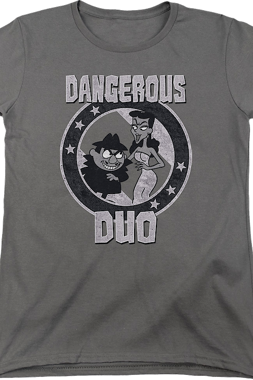 Womens Dangerous Duo Rocky and Bullwinkle Shirt