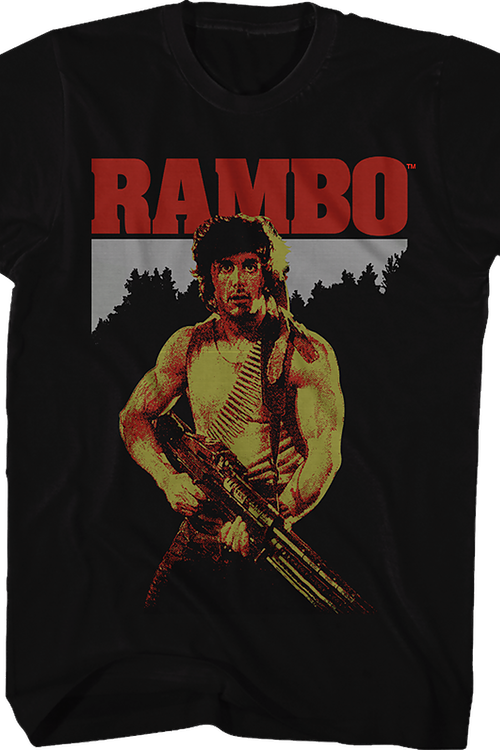 00f1e73f499 Rambo First Blood Shirt  80s Movies Rambo T-shirt