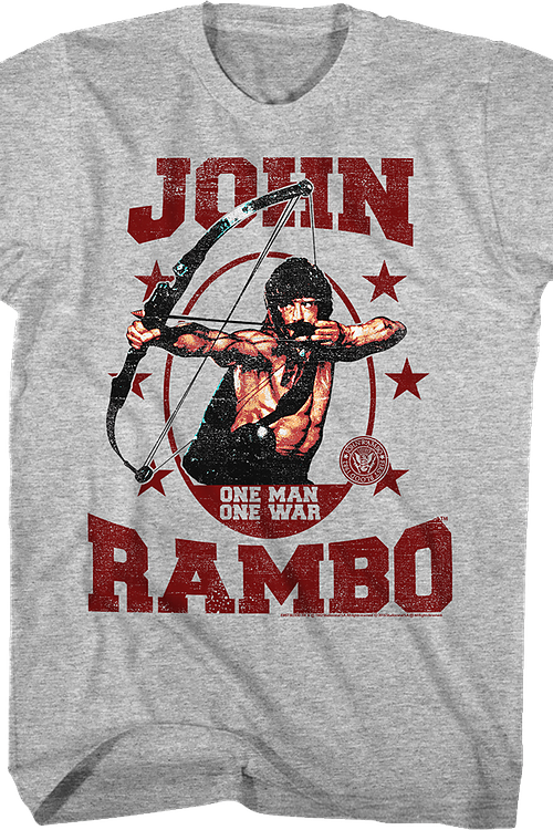 One Man One War Rambo T-Shirt