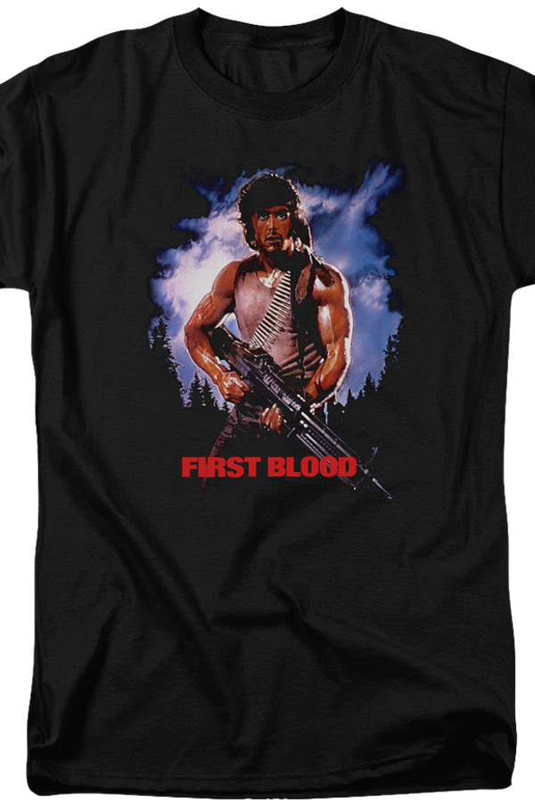 First Blood Movie Poster Rambo T-Shirt