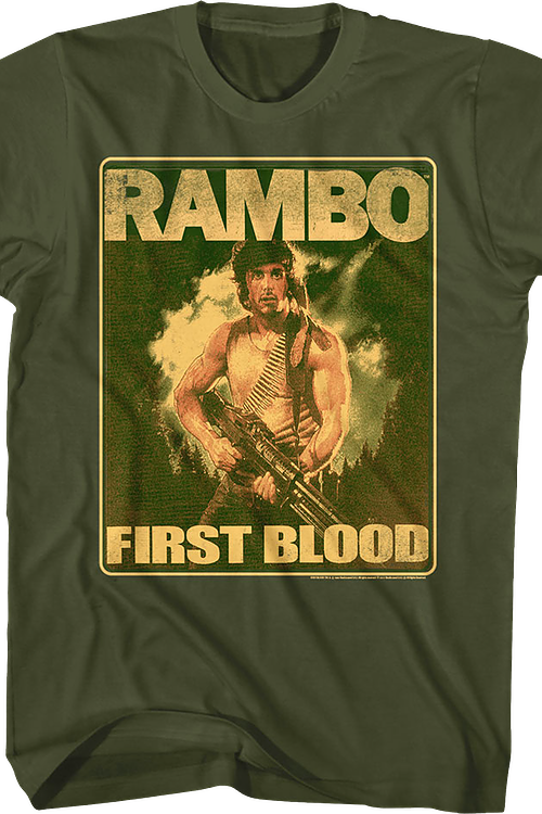 Movie Poster First Blood Rambo T-Shirt