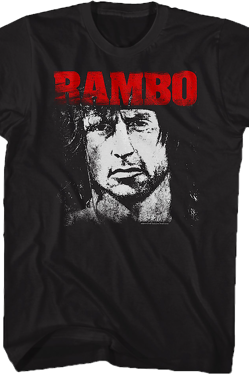 Black and White Face Rambo T-Shirt