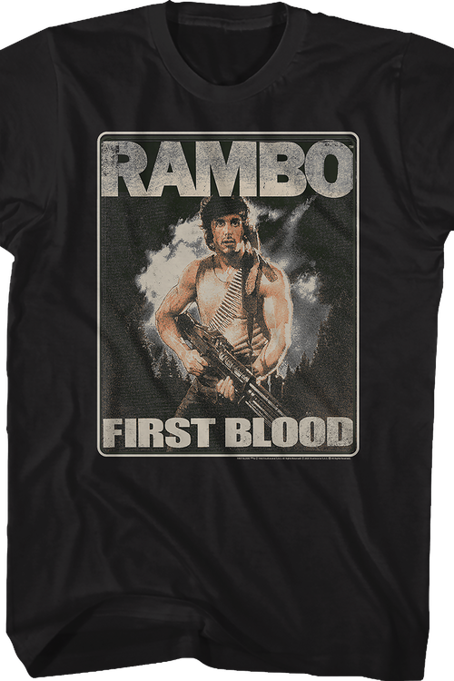 Distressed First Blood Poster Rambo T-Shirt