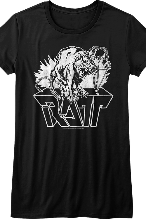 Junior Black and White Ratt Shirt