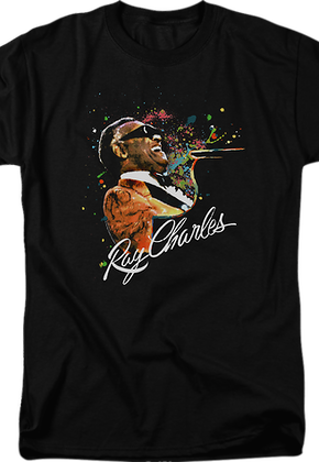Paint Splatter Ray Charles T-Shirt
