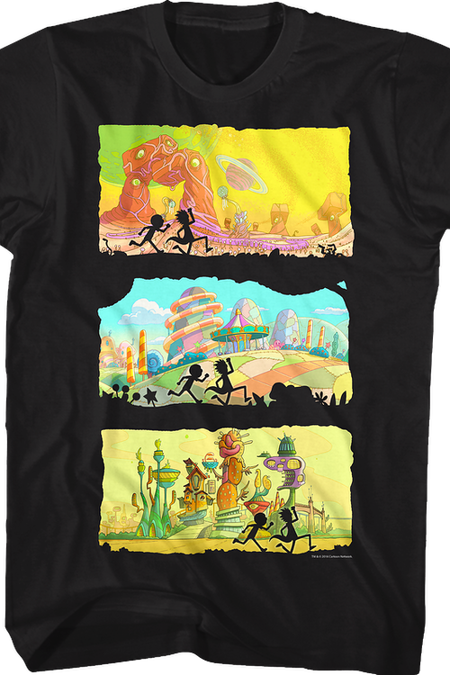 Three Worlds Rick and Morty T-Shirt