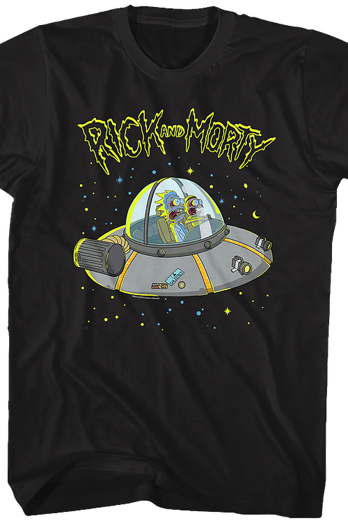 Galaxy Space Cruiser Rick and Morty T-Shirt