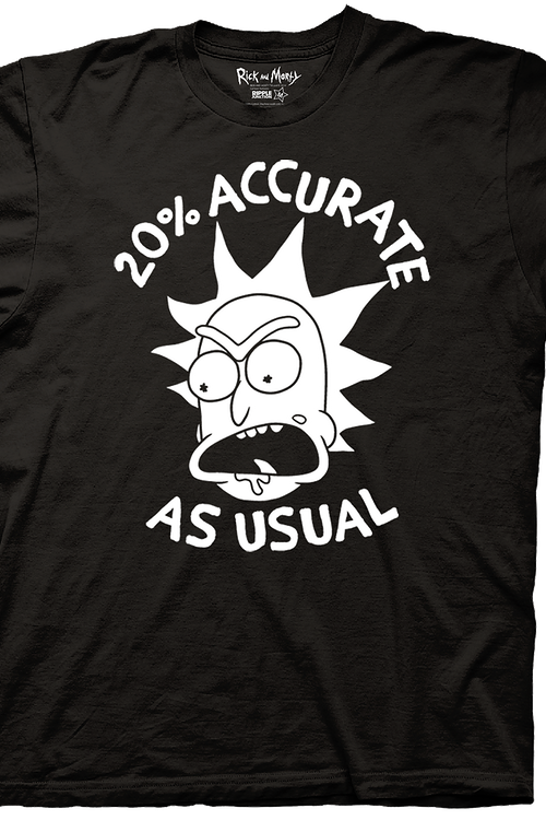 Rick and Morty 20% Accurate T-Shirt