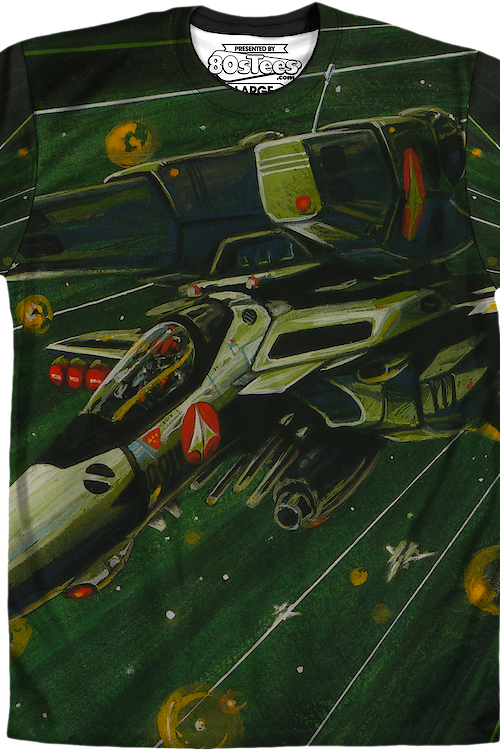 Robotech Sublimation Space Battle Shirt