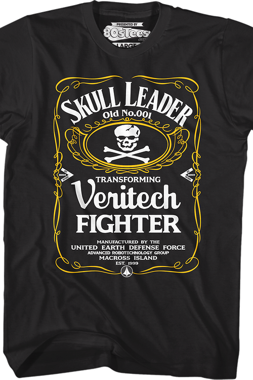 Skull Leader Label Robotech T-Shirt