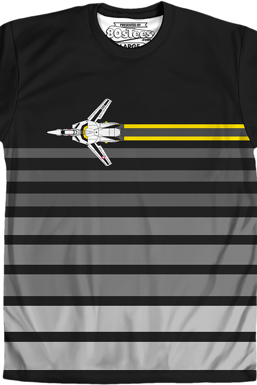 Sublimated Skull-One Stripe Robotech Shirt
