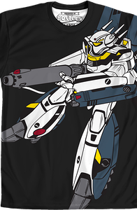 Sublimated Armored Skull-One Robotech Shirt