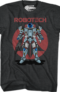 Black Armored Cyclone Robotech T-Shirt