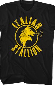 Black Italian Stallion Rocky T-Shirt