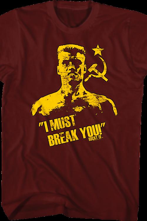 e8732c2bc18a3f Drago Rocky T-Shirt  80s Movies Rocky T-shirt