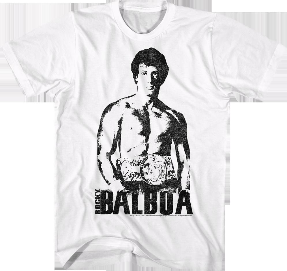 Black and White Rocky Balboa T-Shirt: Rocky