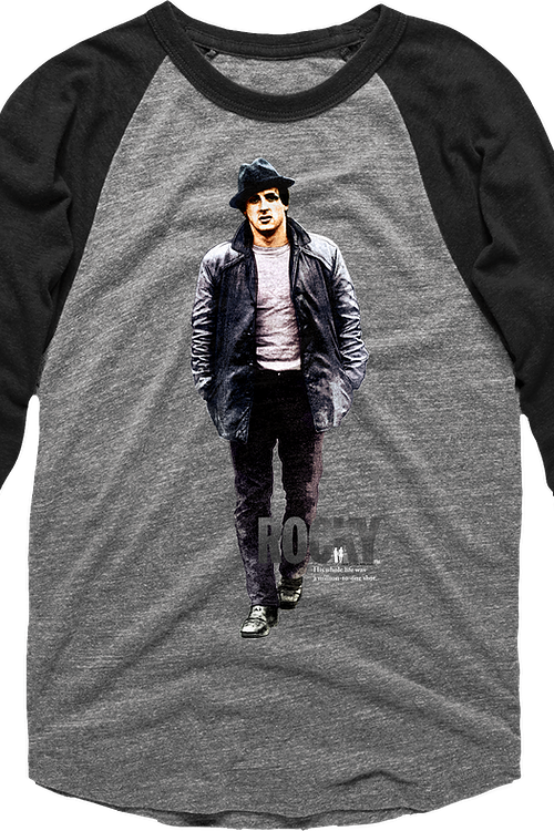 Street Clothes Rocky Raglan Baseball Shirt