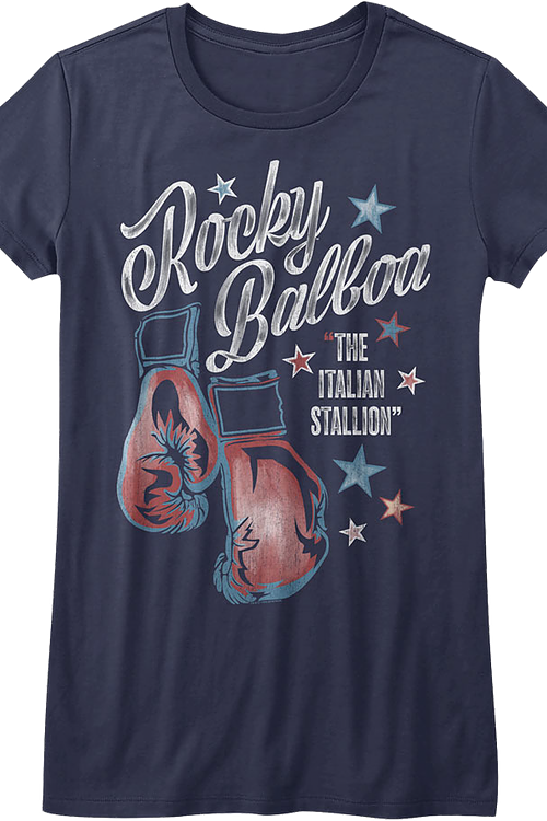 Ladies Boxing Gloves Rocky Shirt